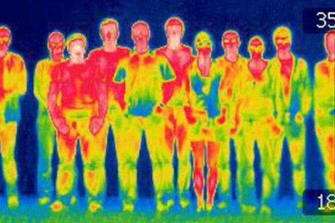 infrared picture of the team